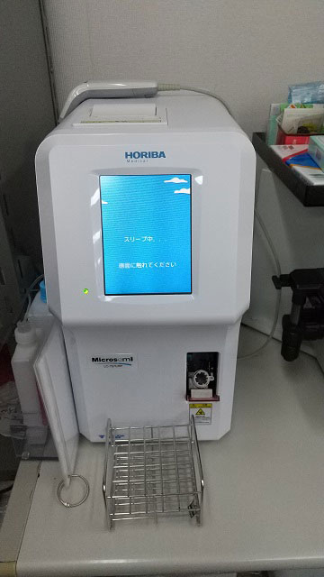 血液検査室(自動血球計数器)